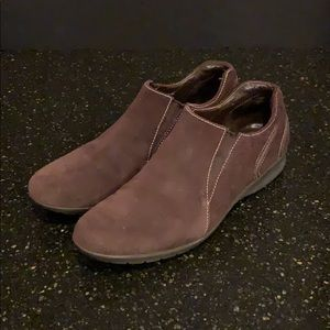 Cole Haan Brown Suede Slip On Loafers 8B